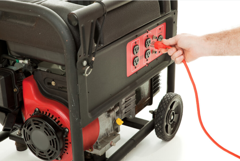 Is it ok to let a portable generator run out of gas? No.