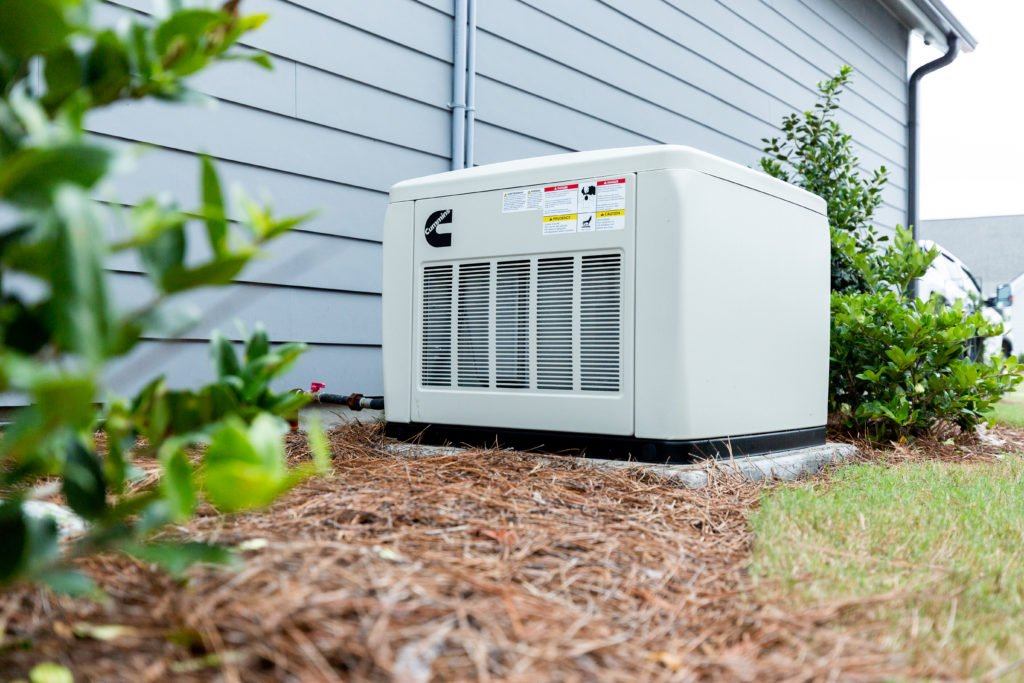residential generators are about the size of your hvac unit